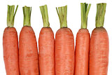 Fresh carrots, isolated on a white background