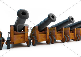 Old pirate cannons