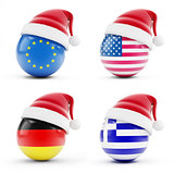 Christmas in Greece, Germany, USA, European