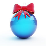 christmas glass ball  red bow