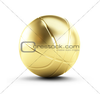 gold basketball ball