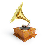 retro old gramophone