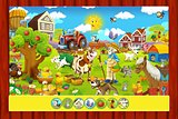 The page with exercises for kids - farm