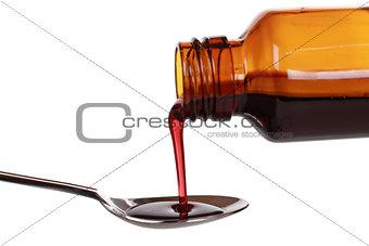 Liquid medicine in a bottle