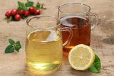 Lemon and rooibos tea