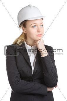 Engineer Woman Thinks