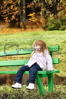 Beautiful Girl in Park