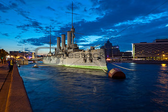 Cruiser Aurora in St. Petersburg, Russia