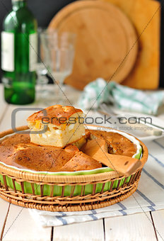 Cabbage and Boiled Egg Filled Pie