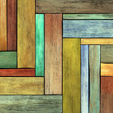 abstract 3d render colored wood timber plank backdrop 