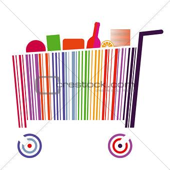 Bar code cart