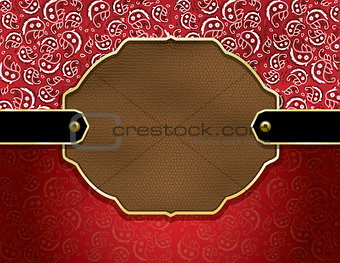 Country paisley and leather background