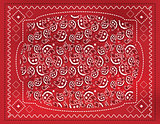 Red Paisley Handkerchief