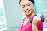 Exercise with dumbbell