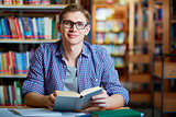 Guy in library