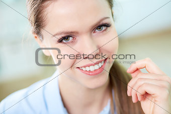 Cheerful woman