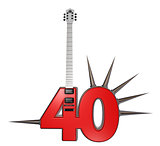 number forty guitar
