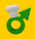 cooking male symbol