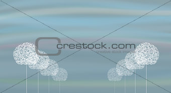 abstract background trees