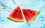 Red watermelon.