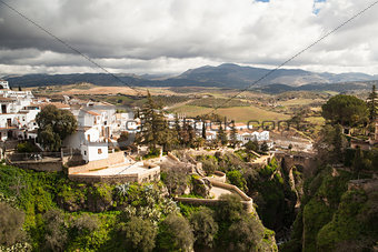 City of Ronda in Spain in winter