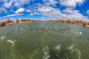 river channel in Danube Delta