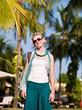 girl on island