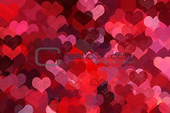 heart shape pattern abstract illustration