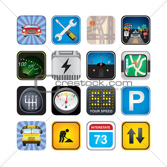 car  signs and icons