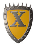 shield with letter x