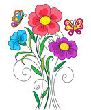 Kidstyle flower illustration