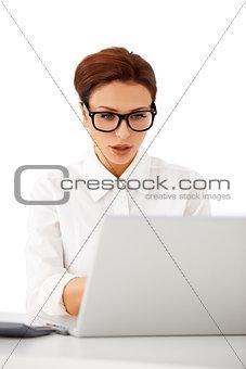 Businesswoman in glasses