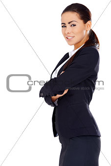 Business woman standing with arms crossed