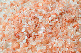 Pink salt from the Himalaya - background