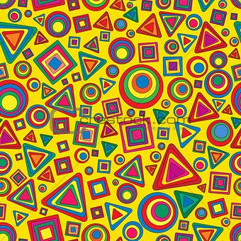 Seamless vector geometric texture