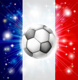France soccer flag