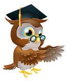 Teacher owl pointing