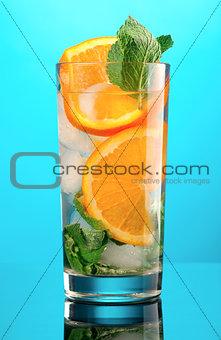 Mojito orange cocktail