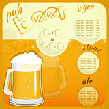 Square Retro Design Beer Menu