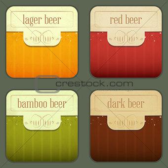 Four Design Beer Labels