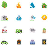 Vector ecology icon set