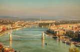 Panoramic overview of Budapest, Hungary