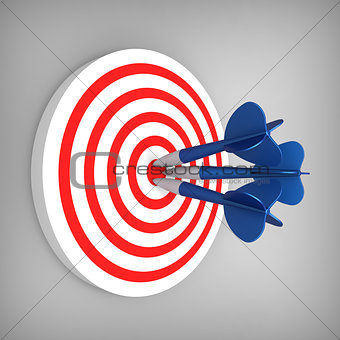 Darts hit accurate on the target