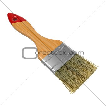 Paintbrush Isolated on White Background.