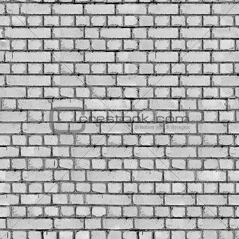 Grey Brick Wall Background.