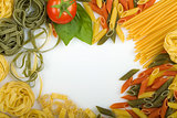 Overhead Italian pasta background