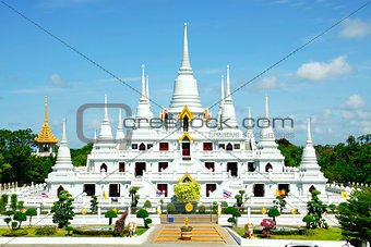 White Pagodas at Wat Asokaram