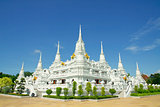 White Pagodas at Wat Asokaram