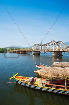 Kampot bridge in cambodia