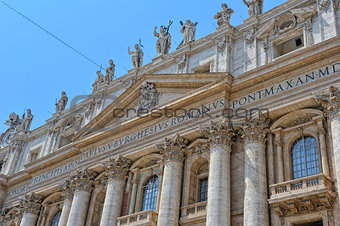 Vatican in Italy. St. Peter's cathedral.